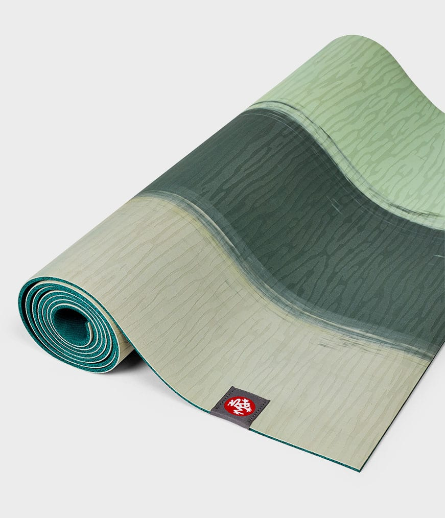 eKo Lite Manduka Green Ash Stripe Yoga Mat 4mm