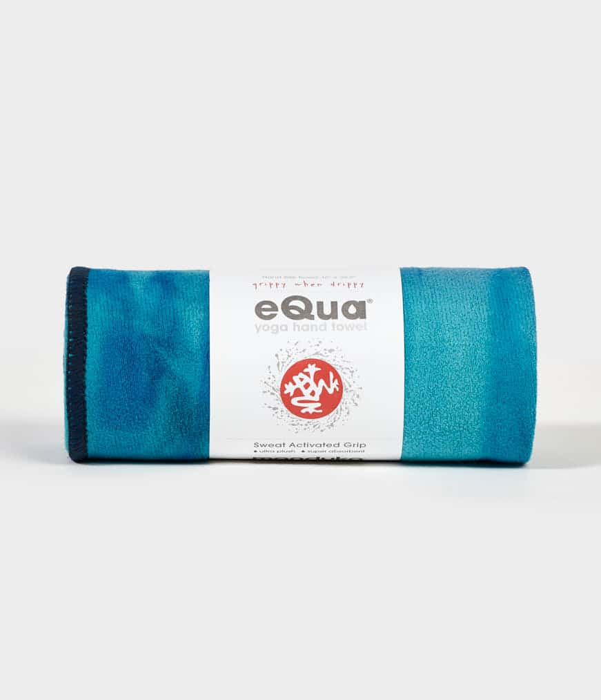 eQua Hand Towel Pacific Blue HD Manduka