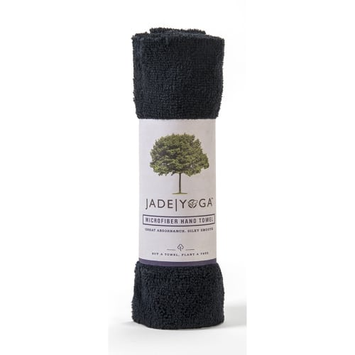 Jade Microfiber Hand Towel Black