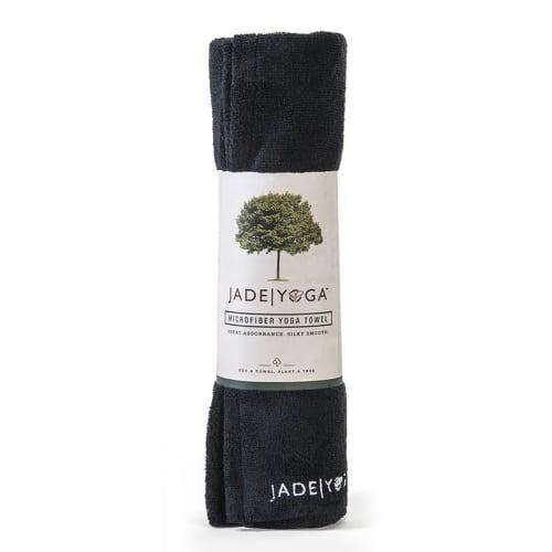 Jade Microfiber Yoga Mat Towel Black