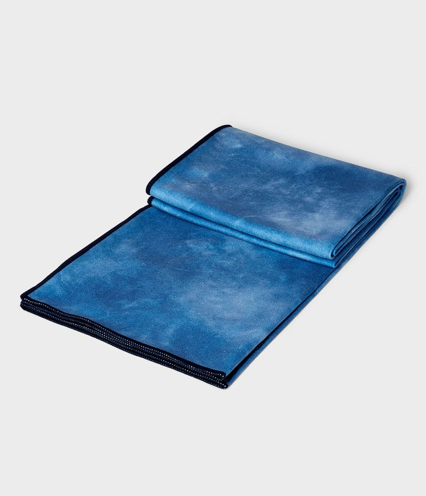 eQua Mat Towel Camo Tie Dye Blues Manduka