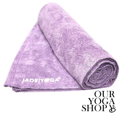 Jade Microfiber Yoga Mat Towel Lavender