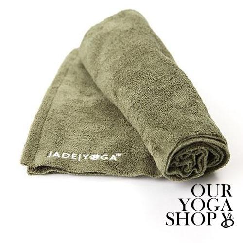 Jade Microfiber Yoga Mat Towel Olive Green