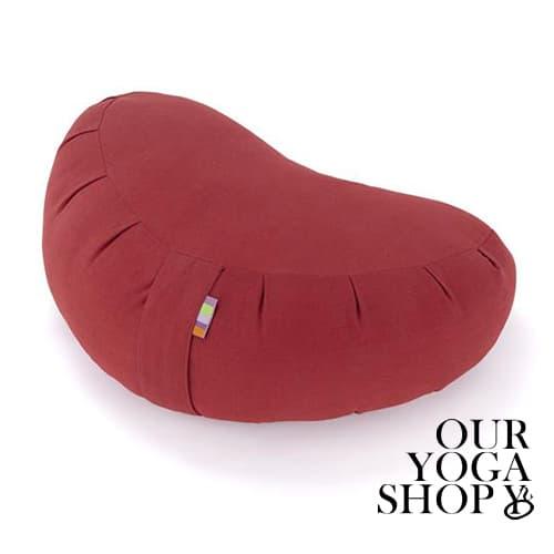 Zafu Crescent Meditation Cushion Burgundy