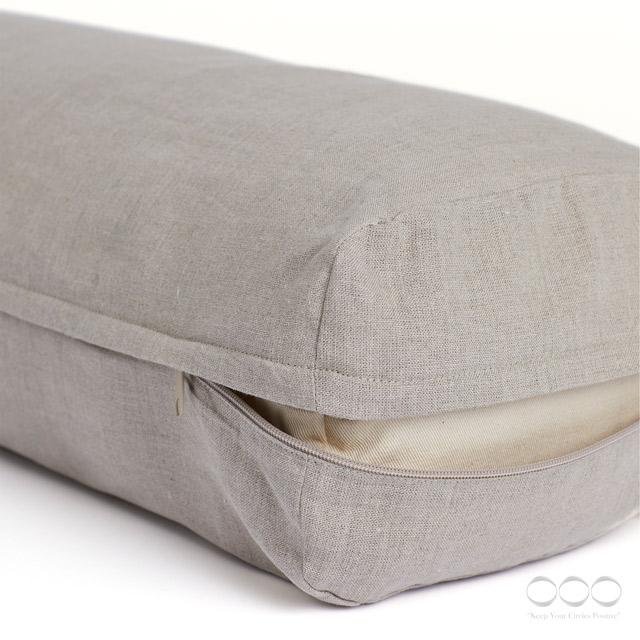 Yoga Bolster Kapok Linen with cover